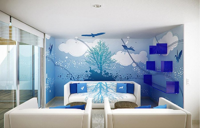 Blue-Sky-and-Cloud-Wall-Mural-Interior